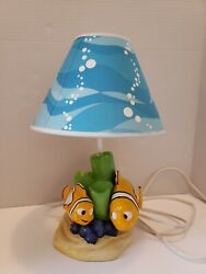 Finding Nemo Table Lamp Nightlight Disney Decor With Shade Great Condition