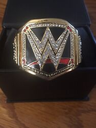 Exclusive Official Wwe Giant Gold Title Belt Ring, Not For Sale Anywhere