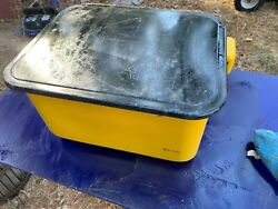 3.5 Gal Steel Cabinet Portable Parts Washer And Electric Pump Yellow Bench Top