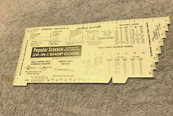 1966 Popular Science 20-in-1 Shop Guide Compass And Rule Calculator Pocket Chart