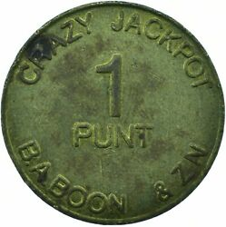 Token / Germany 1 Punt Crazy Jackpot Baboon And Zn Freedom  Wt23039