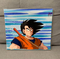 Dragon Ball Cel Picture Full Color Son Goku 2 Sheets Set Anime Used