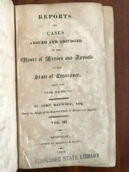 Rare 1818 Reports Of Supreme Court Cases Tennessee John Haywood Knoxville Tn