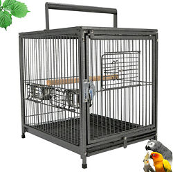 18and034x 14and034 X 22and034 Portable Heavy Duty Bird Cage Parrot Carrier Metal