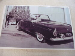1955 Ford Thunderbird With Frank Sinatra Dealer Plate 11 X 17 Photo Picture