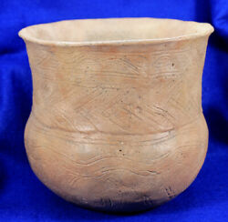 Incised Jar Authentic Prehistoric Pottery Artifact