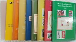 Collection Of 9 German Yearbooks With Mnh Stamps Of Bundespost / Berlin 1974-89.