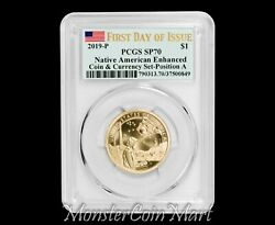 2019-p Enhanced Native American Dollar Pos A Pcgs Sp70 Fdoi - Coin And Currency