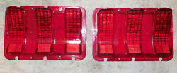 1967 1968 Mustang Fastback Gt Coupe Gta Convertible Orig Rear Tail Light Lenses