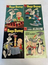 Comic Books Warner Brothers Bugs Bunny 1956-1960 Qty 4 By Dell Publishing N.y.