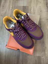 Rare New 2004 Nike Air Force 1 Size 85 Purple Yellow