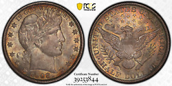 1908-o Barber Half Dollar Pcgs Ms65 Smooth Reflective Fields Awesome Color