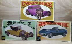 Vintage Set Of 3 Topps Way Out Wheels Trading Cards Numbers 23, 26, And 34