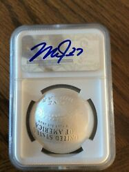 Mike Trout Signed 2014 1 Silver Baseball Hall Of Fame Proof Ngc Pf 70 Jsa