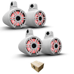 2 Pair Of Rockford Fosgate M2wl-8h 8 2400w 4 Ohm 2-way Horn Wake Tower Speakers