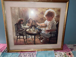 Donna Green Tea Time Series Print Signed Numbered Limited Edition 165/2000 Rare