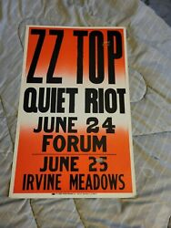 Zz Top Quiet Riot Cardboard Rock Boxing Style Concert Poster