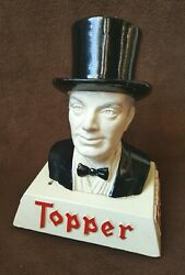 1950and039s Topper Beer Bar-back Chalkware Bust - Standard Rochester Brewing Co.