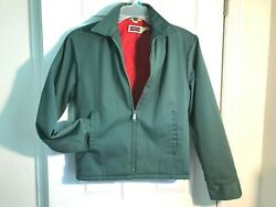 Sz Small Vintage Big Mac Jacket Green With Quilted Lining Chest 40and039and039