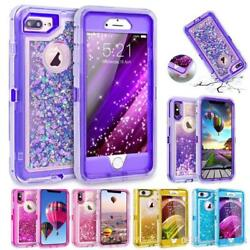 Wholesale Lot For Iphone 7 Plus Liquid Glitter Rugged Quicksand Case And Clip