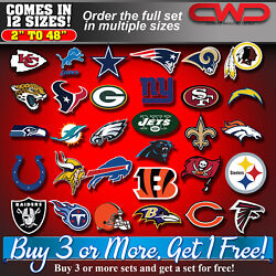 Nfl Team Decals Stickers 10 Sizes 2 Inch To 48inch Laminated Top Quality 703030