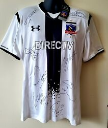 Exclusive Rare 2015 Under Armour Colo Colo Home Jersey Sz Large Autographed 💎
