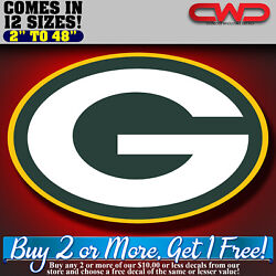 Green Bay Packers Decal Nfl Football Sticker Logo Sports Free Shipping 70333