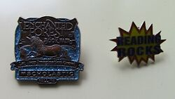 Vintage Enchanted Forest Unicorn Scholastic Book Fair And Reading Rocks Lapel Pins