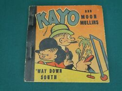 Buddy Book Big Little Book Premium - Kayo And Moon Mullins And039way Down South 1938