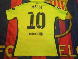 Barcelona 2014-15 Third Messi Match Player Issue Shirtbn Without Tag