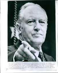 1971 William Rogers Wa News Conference Us Troop Withdrawals Wirephoto 8x10