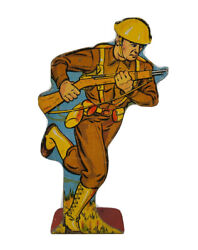Marx Soldiers Of Fortune Tin Litho Infantry Private Charging 15