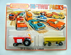 Matchbox Superfast Tp2 Tractor And Trailer Very Rare 5 Spoke Wheels On Tractor