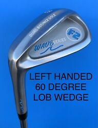 Left Handed F2 Golf Wave Series 60 Lob Wedge Dual Bounce Sole Shank-proof Lh ⛳️