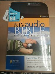 Niv Audio Bible Complete Bible Old And New Testaments, 64 Cds W Case New Open Box