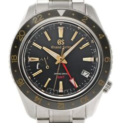 Free Shipping Pre-owned Grand Seiko Mechanical Spring Drive Gmt Sbge215