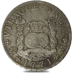 1771 Mexico Spanish Colony 8 Reales Charles Iii Silver Coin Asw .798 Oz Circ
