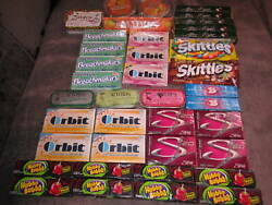 Holy Grail Candy Lot 4 Tins Altoids Tangerine Sours Cotton Candy Gum Skittles