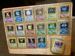 Nm Near Complete Base Set Pokemon Cards 96/102. Wotc 1999. Unlimited All Holos