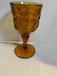 Vintage Indiana Glass Goblets In Gold 8 Ounce Set Of 12