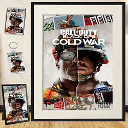 Call Of Duty Poster Print Black Ops Cold War Game Wall Art + Frame / Gift