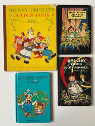 1st 1930and039s Raggedy Ann Lot By Johnny Gruelle Lucky Pennies Deep Woods Andy