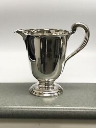 And Co.sterling Silver Water Pitcher 18214 1912-1913 W/mono 3 1/4 Pint