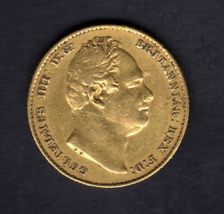 1832 Sovereign William Iv Bare Head High Grade Great Gift