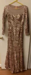 Rose Gold Evening Gown $120.00
