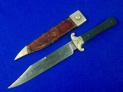 Antique Us Civil War A. Davy Sheffield British English Made Bowie Fighting Knife