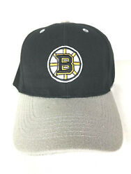 New Boston Bruins Hat Baseball Cap Black Gray One Sz Embroidered Stanley Cup H4