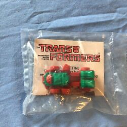 New Rare Transformers Mcdonalds Happy Meal 1985 Toy Gears Sealed Red And Green Vtg