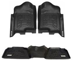Combo Front And 2nd Row Sure-fit Floor Mats 1999-2007 Ford Super Duty Crew Cab
