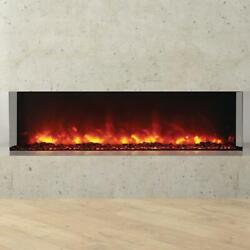 Amantii Tru View 60-in Built-in Three Sided Electric Fireplace - Indoor/outdoor